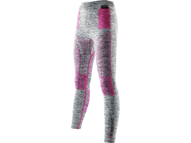 X-Bionic Accumulator EVO Melange UW Long Pants Damen light grey melange/raspberry